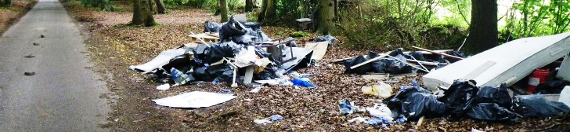 Café owner fined for failure of duty of care over fly tipped waste